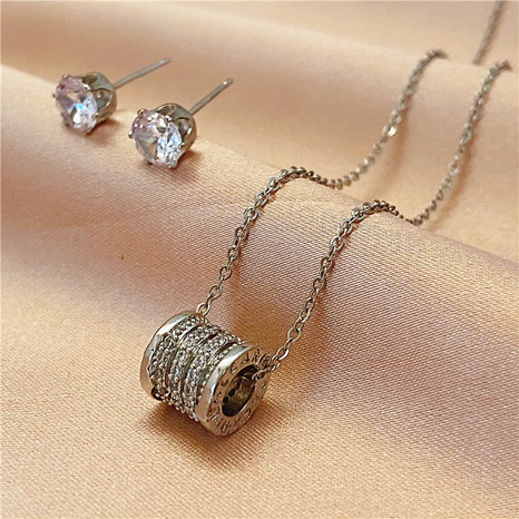 Korean snake bone chain diamond earrings NHVA324908's discount tags