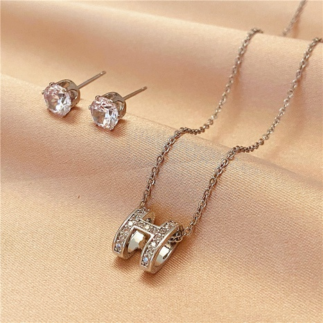 Korean Bead Necklace Earrings set NHVA324910's discount tags