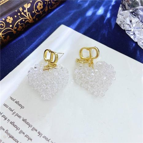 Korean Acrylic White Heart Earrings  NHVA324921's discount tags