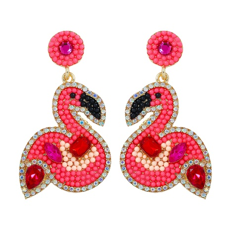 fashion alloy inlaid bead earrings NHJQ324946's discount tags