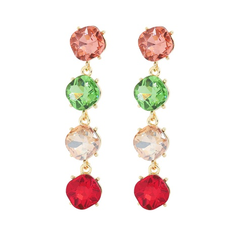 fashion alloy inlaid colored large gemstone earrings NHJQ324950's discount tags