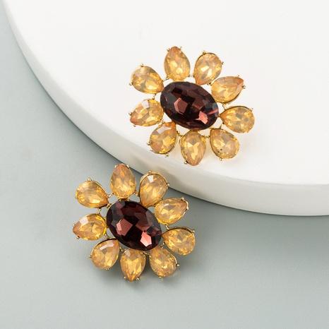 Korean simple rhinestone flower earrings NHLN324986's discount tags