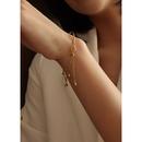 fashion round ball tassel titanium steel bracelet NHOK324997