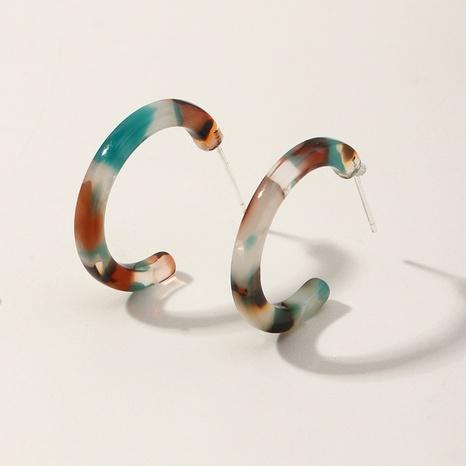 fashion geometric C-shaped acrylic earrings NHNZ325019's discount tags