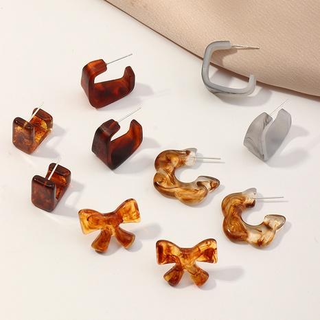 fashion geometric acrylic flower earrings NHNZ325020's discount tags