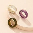 Korean retro contrast color acrylic ring   NHAI325052