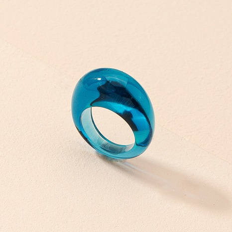 Korean fashion drop-shaped acrylic ring  NHAI325056's discount tags