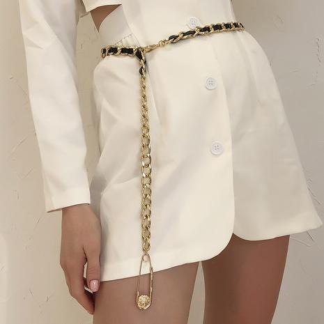 fashion simple chain PU woven waist chain NHMD325064's discount tags