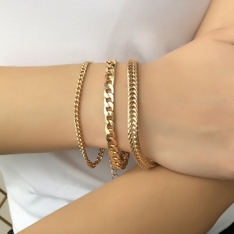 fashion multi-layer alloy chain bracelet set NHMD325071's discount tags