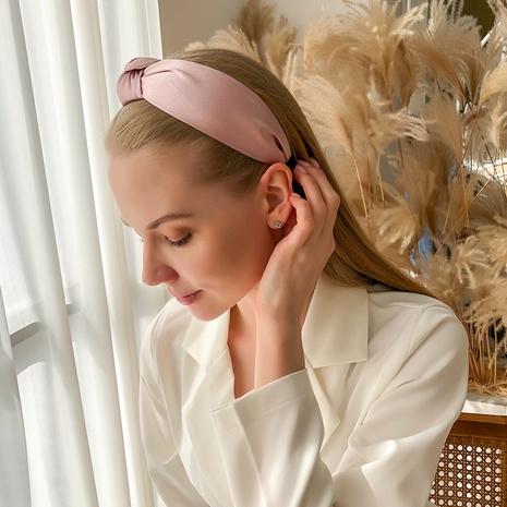 einfaches, rein gefärbtes, geknotetes Stirnband NHMD325082's discount tags