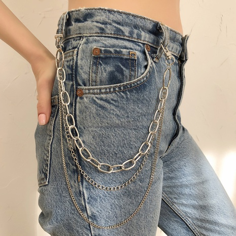 new punk retro simple multi-layer waist chain NHMD325107's discount tags