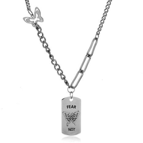 Collar de mariposa de acero inoxidable de moda coreana NHSC324669's discount tags