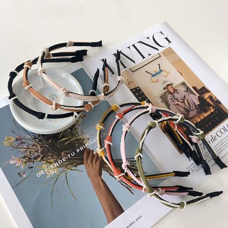 Koreas neues Stirnband aus geknoteten Perlen NHSM325006's discount tags