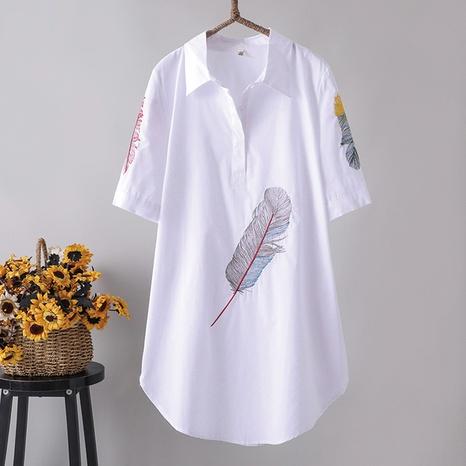 camisa de flores bordadas de estilo simple de moda NHZN325689's discount tags