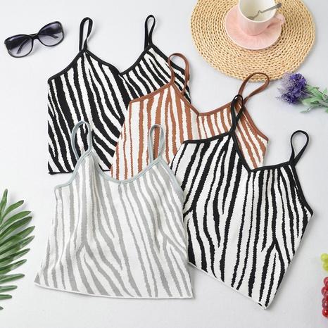 camisola con estampado de cebra de nueva moda NHZN325688's discount tags