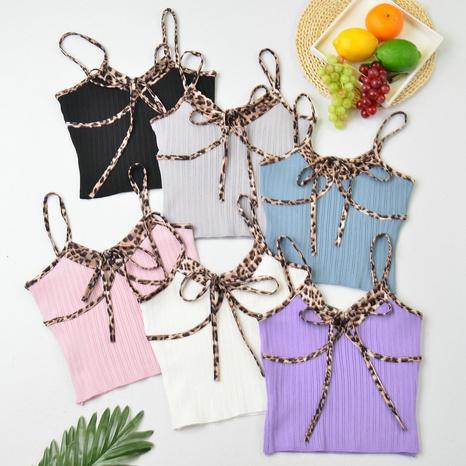 chaleco de encaje con costuras estampadas de estilo simple NHZN325686's discount tags