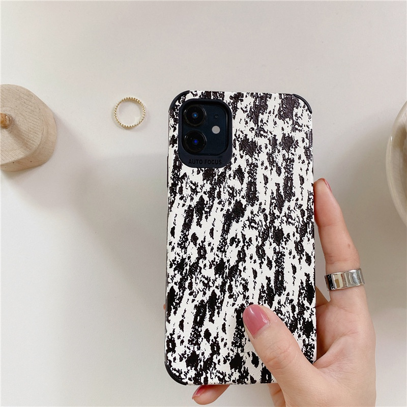 Estuche para telfono coreano con salpicaduras de tinta negra NHFI325227