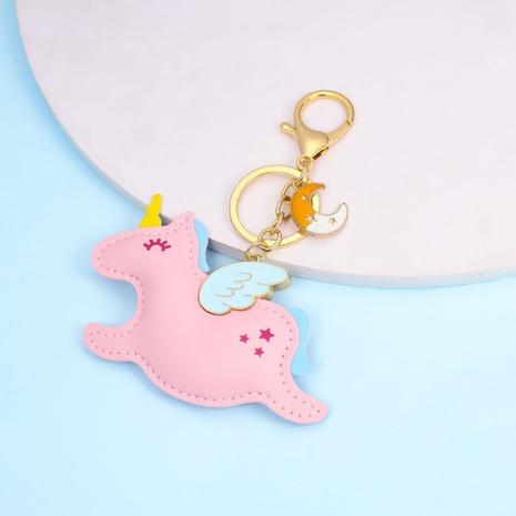neuer süßer rosa Einhorn-Schlüsselbund aus PU-Legierung NHAP325409's discount tags