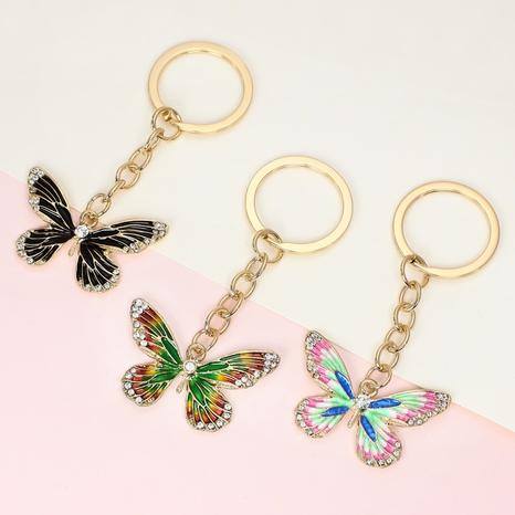 Mode Legierung Diamant Malerei Öl Schmetterling Schlüsselbund NHAP325410's discount tags