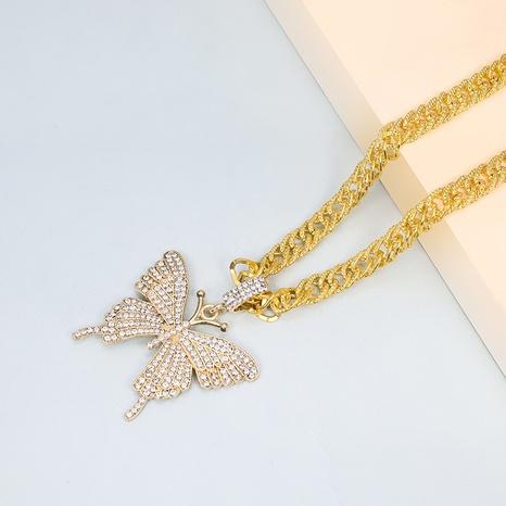 collar de mariposa de diamantes de aleación de moda NHAP325412's discount tags