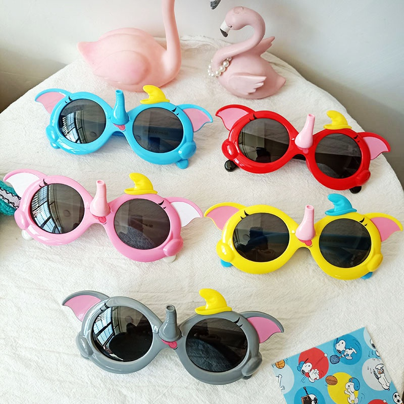new fashion elephant children's UV-resistant sunglasses NHBA325468