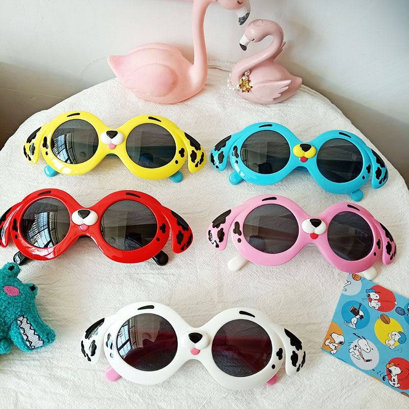 cartoon dog cute children's sunglasses NHBA325472