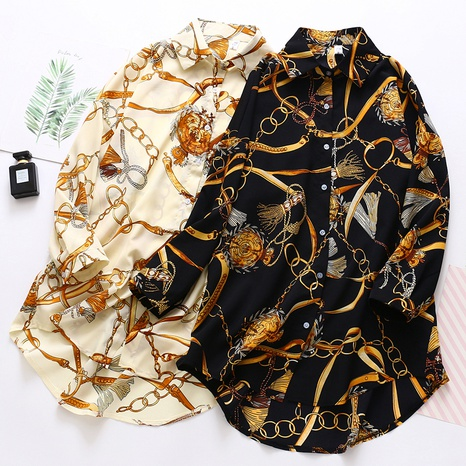 camisa de manga larga de gasa de moda NHZN325662's discount tags