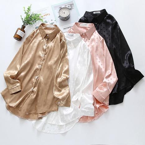 nueva moda suelta camisas casuales de color sólido NHZN325652's discount tags