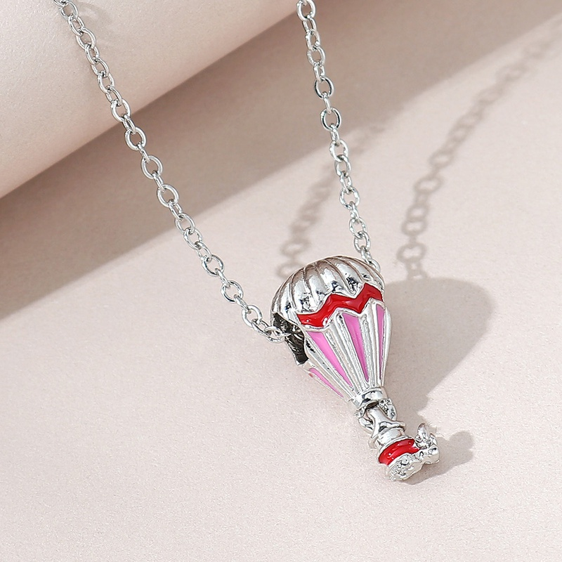 fashion oil painting hot air balloon necklace NHPS325523
