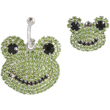 Asymmetrischer Ohrring der koreanischen Mode-Diamant-Frosch NHSC318813's discount tags