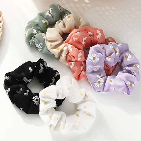retro cute fashion daisy hair scrunchies  NHAU318602's discount tags