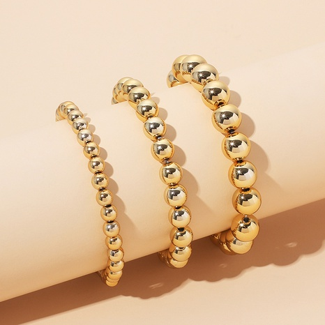 fashion golden beaded multi-layer combined bracelet NHRN318605's discount tags