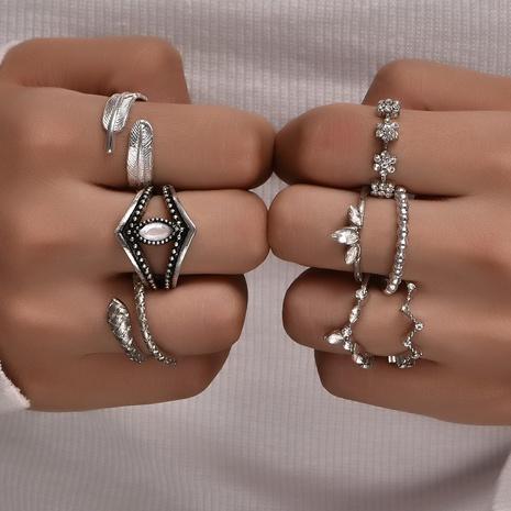 Conjunto de anillos irregulares serpiente hoja estilo bohemio NHAJ318615's discount tags