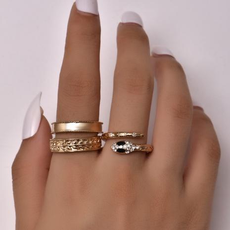 anillo de apertura en forma de serpiente de moda NHAJ318621's discount tags