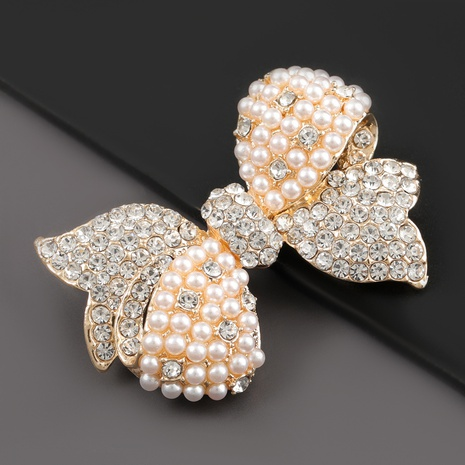 Broche en alliage de mode incrusté de diamants NHJE318623's discount tags