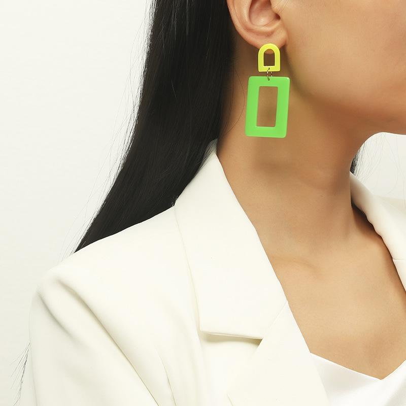 fashion creative geometric acrylic earrings NHKQ318626