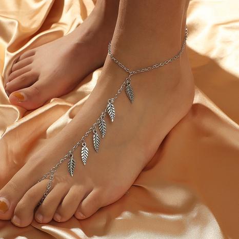 Bohemian retro fashion leaf anklet NHKQ318639's discount tags