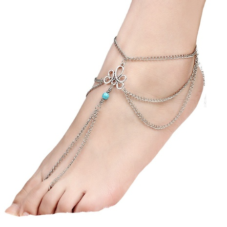 Fashion retro turquoise anklet  NHKQ318650's discount tags