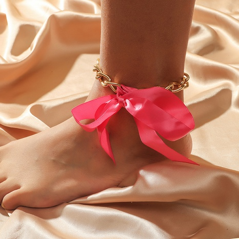retro ribbon bow anklet NHKQ318653's discount tags
