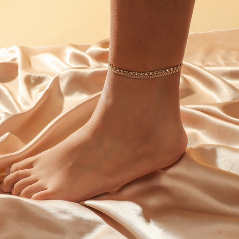 multi-layer fashion anklet NHKQ318655's discount tags