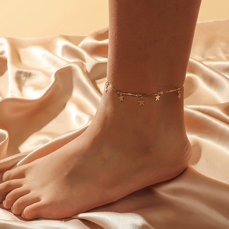 fashion creative five-pointed star anklet NHKQ318656's discount tags