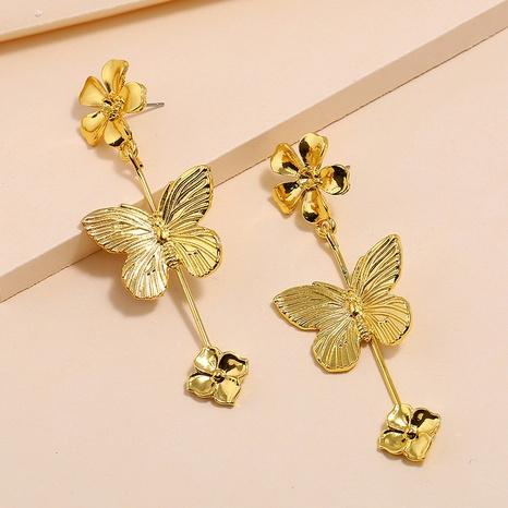 Retro Metallblume Schmetterlingsohrringe NHKQ318672's discount tags