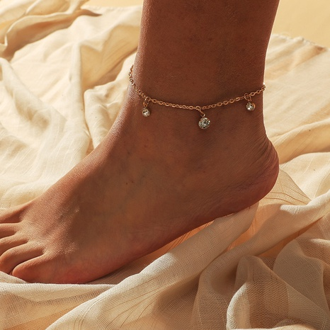 Fashion simple diamond anklet  NHKQ318677's discount tags