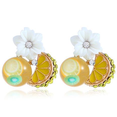 Weiße Blumenohrringe der koreanischen Mode NHKQ318701's discount tags