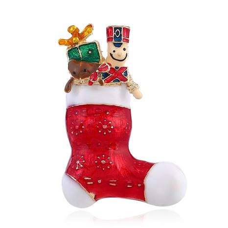 kreative Mode goldene Weihnachtssocken Brosche NHKQ318723's discount tags