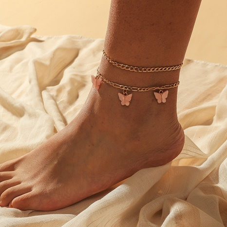 Fashion butterfly 2-piece anklet NHKQ318747's discount tags