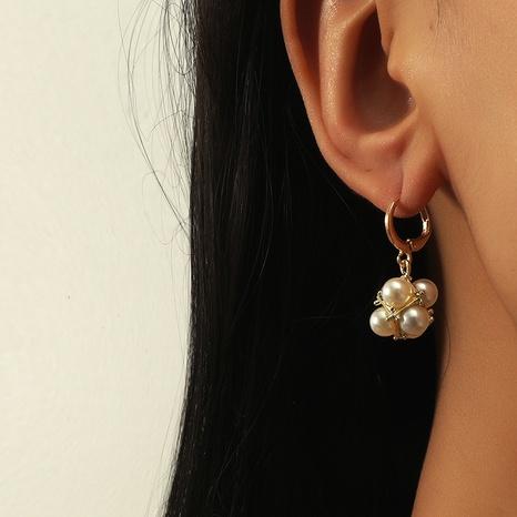 süße und elegante Perlenohrringe NHKQ318756's discount tags
