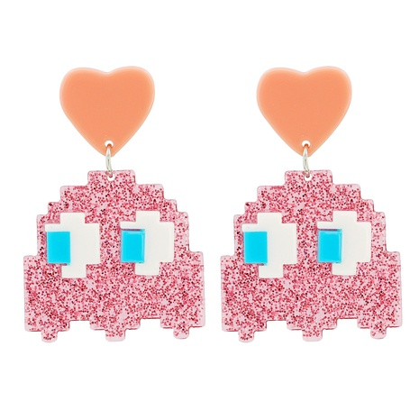 Acrylic Cute Little Monster Pendant Earrings NHJJ318798's discount tags