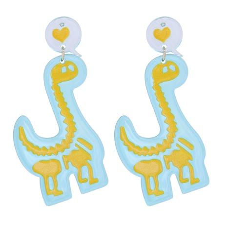 Acrylic Dinosaur Pendant Earrings NHJJ318801's discount tags