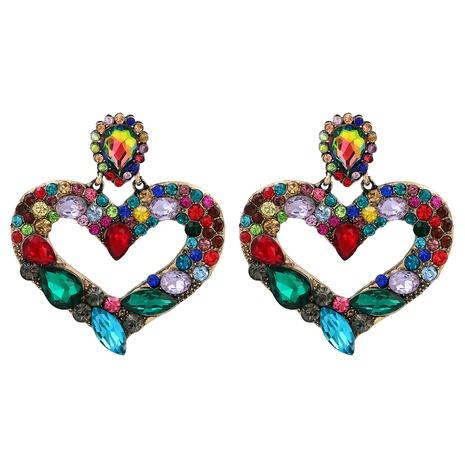 retro heart-shaped diamond earrings  NHJJ318804's discount tags